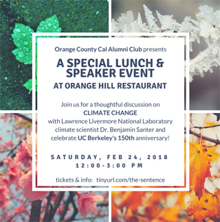 "Speaker Lunch Event: ""The Sentence that Changed the World"" with Dr. Benjamin Santer"